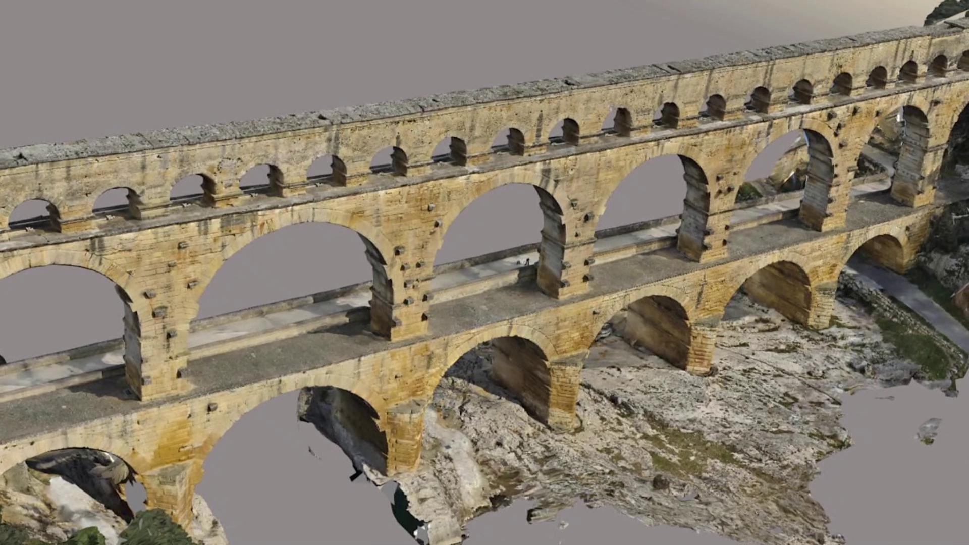 Permalien à:Modélisation 3D du Pont du Gard: Le film