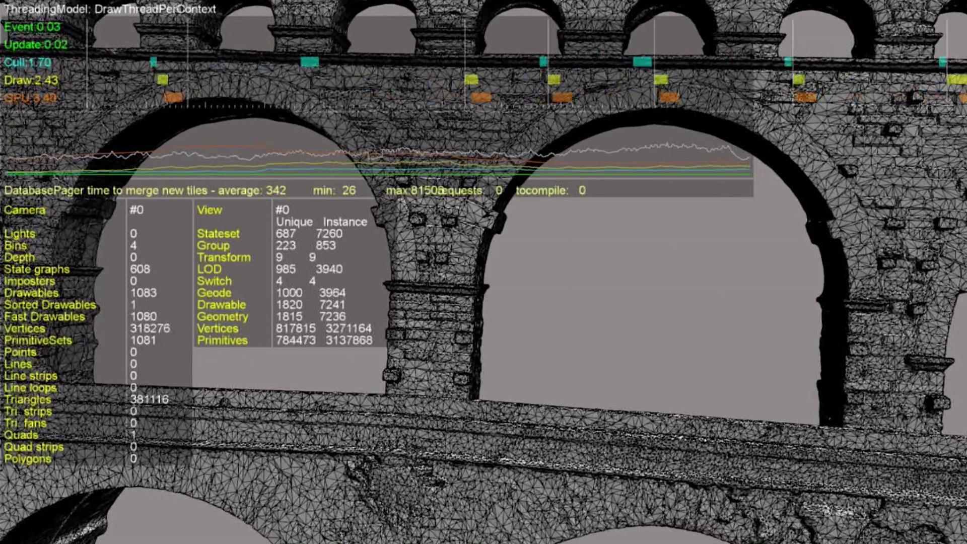Permalien à:Modélisation 3D du Pont du Gard: La technique