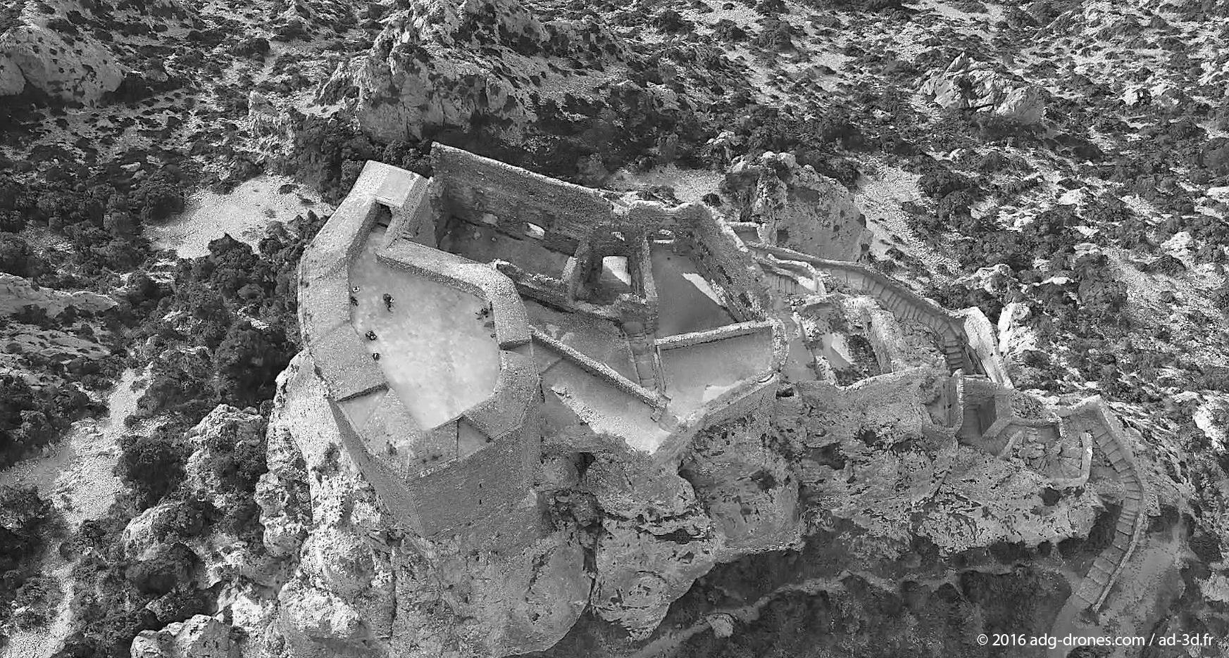 Château de Quéribus 3D nb